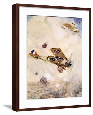 The British Airmen Arrived at the Scene of the Fight Just in Time--Framed Art Print