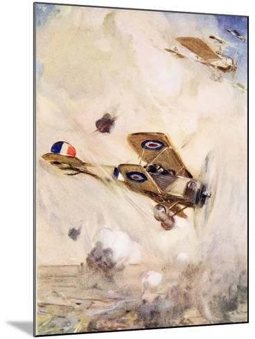 The British Airmen Arrived at the Scene of the Fight Just in Time--Mounted Giclee Print