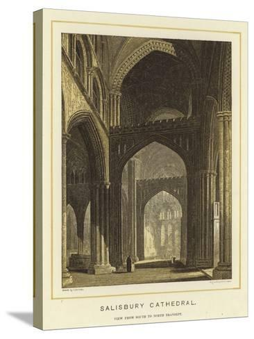 Salisbury Cathedral, View from South to North Transept--Stretched Canvas Print