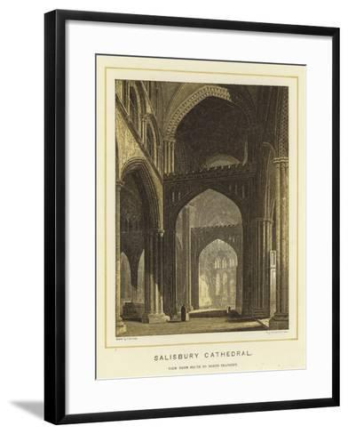 Salisbury Cathedral, View from South to North Transept--Framed Art Print