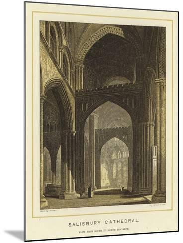 Salisbury Cathedral, View from South to North Transept--Mounted Giclee Print