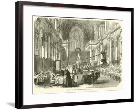 Church in Paris Converted into a Hospital, November 1870--Framed Art Print
