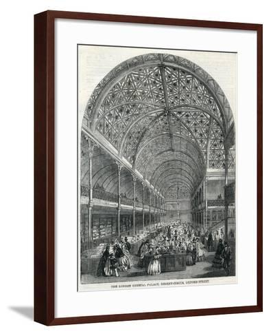 The London Crystal Palace, Regent Circus, Oxford Street, 1858--Framed Art Print