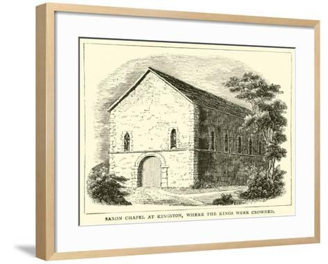 Saxon Chapel at Kingston, Where the Kings Were Crowned--Framed Art Print