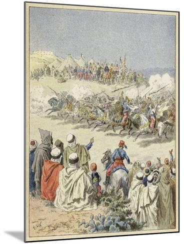 Fantasia, Traditional Berber Display of Horsemanship, North Africa--Mounted Giclee Print