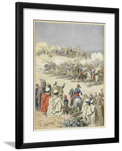 Fantasia, Traditional Berber Display of Horsemanship, North Africa--Framed Art Print