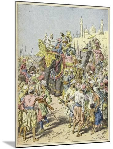 European Travellers Being Received by a Raja, India--Mounted Giclee Print
