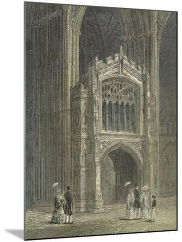 Peterborough Cathedral, View of the Porch, West End--Mounted Giclee Print