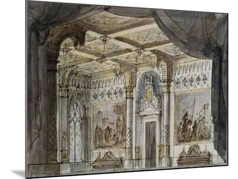 Set Design by Francesco Bagnara for Otello, Opera by Giuseppe Verdi--Mounted Giclee Print
