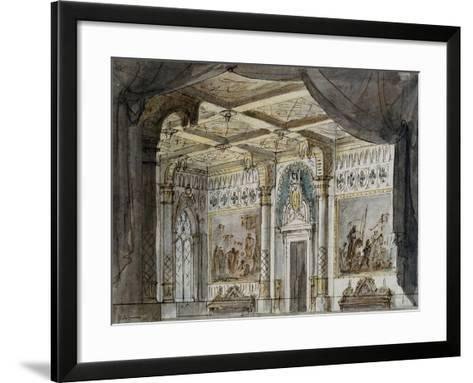 Set Design by Francesco Bagnara for Otello, Opera by Giuseppe Verdi--Framed Art Print