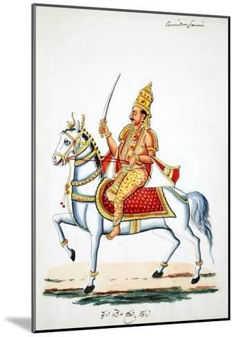 Lord Kalki on His Horse Devadatta with Sword in Hand--Mounted Giclee Print