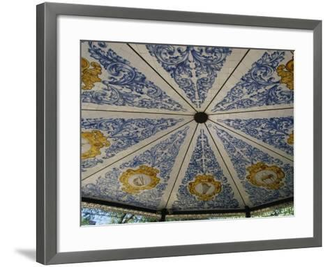 Azulejos Tiles Decorated with Musical Instruments--Framed Art Print