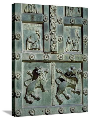 Creation of Adam and Eve, 1185, Detail of Bronze Gate by Bonanno Pisano--Stretched Canvas Print