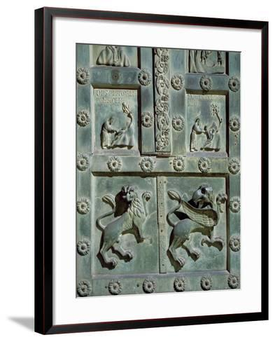 Creation of Adam and Eve, 1185, Detail of Bronze Gate by Bonanno Pisano--Framed Art Print