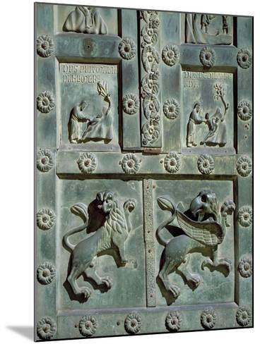 Creation of Adam and Eve, 1185, Detail of Bronze Gate by Bonanno Pisano--Mounted Giclee Print