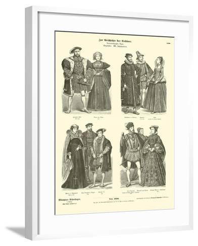 Costumes of English and Scottish Royalty and Nobility, 16th Century--Framed Art Print