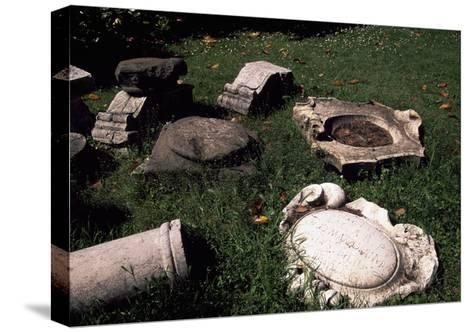 Marble Ruins, Detail from Villa of Marfisa of Este--Stretched Canvas Print