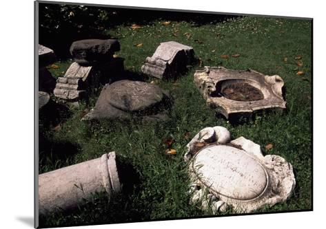 Marble Ruins, Detail from Villa of Marfisa of Este--Mounted Giclee Print