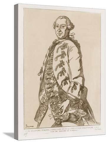 John Sigismund Pfinzing, State Councilor of the Empress of Germany, 1763--Stretched Canvas Print