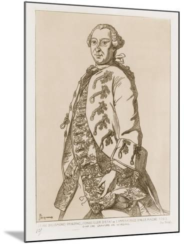 John Sigismund Pfinzing, State Councilor of the Empress of Germany, 1763--Mounted Giclee Print