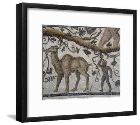 Black Man and Camel, Detail from So-Called Mosaic of Silenus of Thysdrus--Framed Art Print