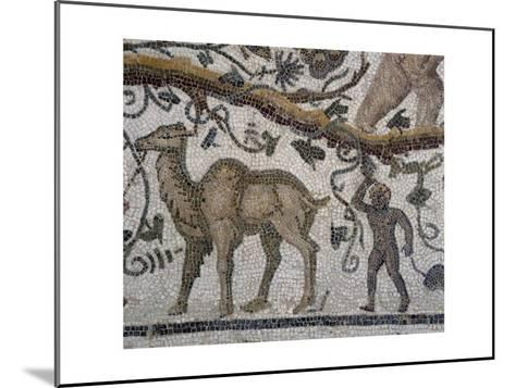 Black Man and Camel, Detail from So-Called Mosaic of Silenus of Thysdrus--Mounted Giclee Print