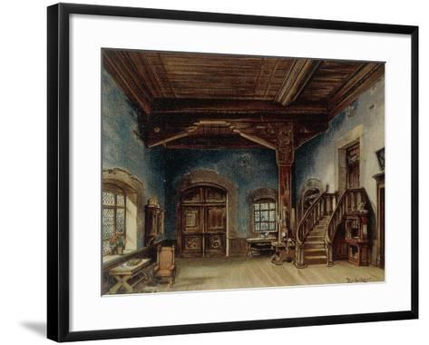 Sachs' Workshop, Scene 1 from 'Die Meistersinger', 1888--Framed Art Print