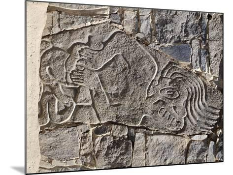 Architectural Stone Engraved with a Dying Man, from Carro Sechin--Mounted Giclee Print