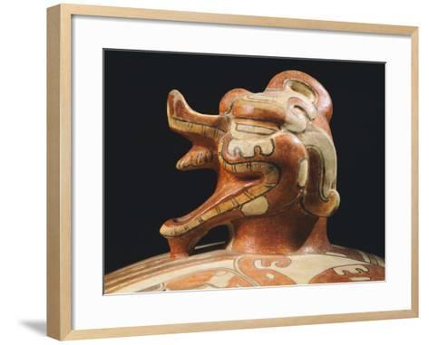 Polychrome Terracotta Container, Originating from Tikal--Framed Art Print