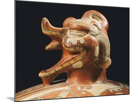 Polychrome Terracotta Container, Originating from Tikal--Mounted Giclee Print