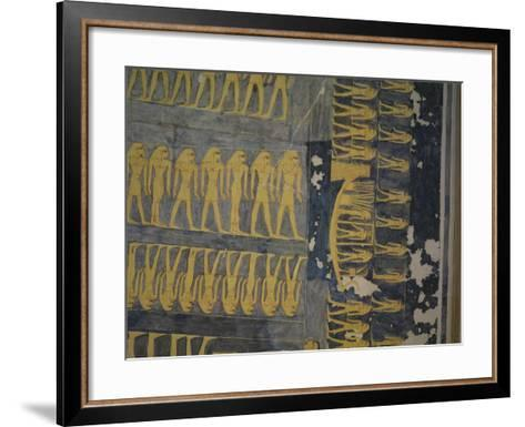 Egypt, Thebes, Luxor, Valley of the Kings, Tomb of Ramses IX--Framed Art Print