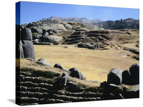 The Esplanade in Front of the Walls of Sacsahuaman--Stretched Canvas Print