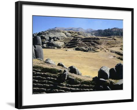 The Esplanade in Front of the Walls of Sacsahuaman--Framed Art Print