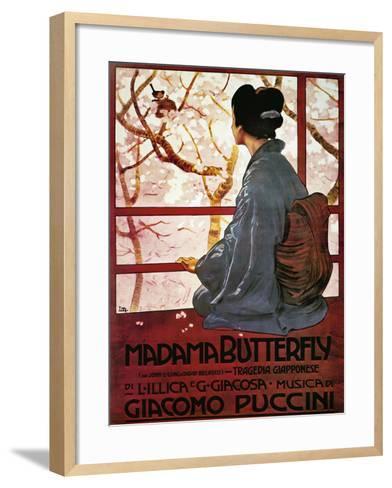 Poster for Madame Butterfly--Framed Art Print