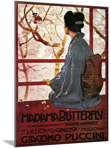 Poster for Madame Butterfly--Mounted Giclee Print