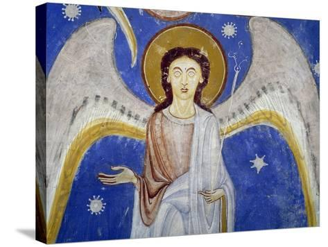 Middle Angels, Detail of Western Arm of Stone Cross--Stretched Canvas Print