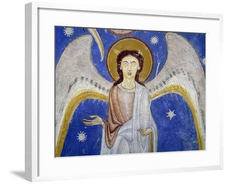 Middle Angels, Detail of Western Arm of Stone Cross--Framed Art Print