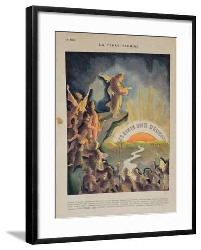 The Promised Land, United States of Europe: Aristide Briand--Framed Art Print