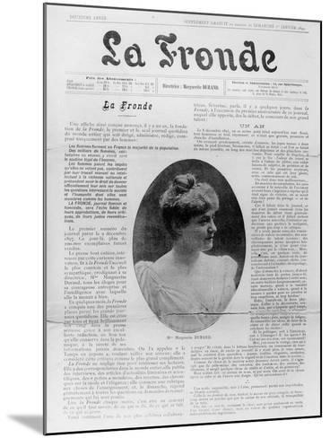 Front Page of 'La Fronde', Edited by Marguerite Durand, 1st January 1899--Mounted Giclee Print