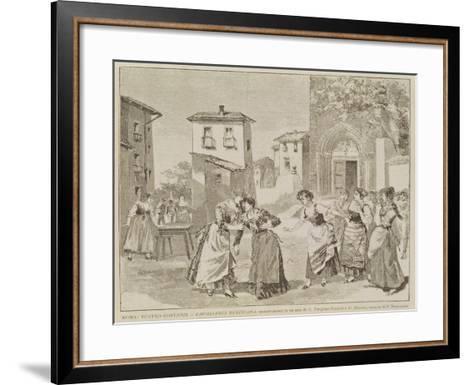 Scene from the Opera 'Cavalleria Rusticana'--Framed Art Print