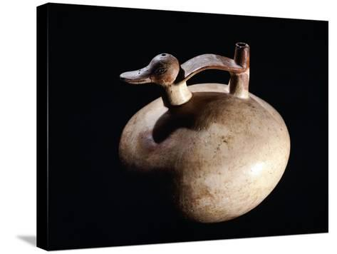 Pottery Vase in the Form of a Duck, Artifact Originating from Paracas--Stretched Canvas Print