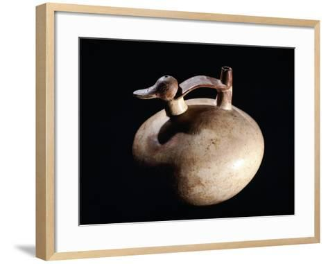 Pottery Vase in the Form of a Duck, Artifact Originating from Paracas--Framed Art Print