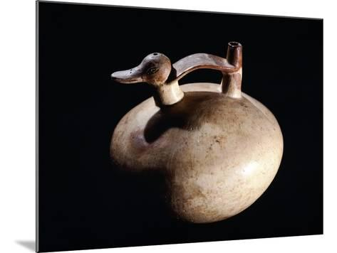 Pottery Vase in the Form of a Duck, Artifact Originating from Paracas--Mounted Giclee Print