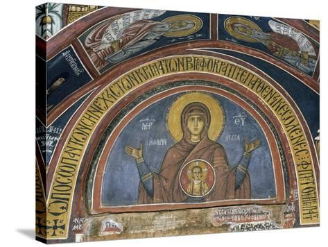 Phorbiotissa Panagia, Our Lady of Christ in Medallion, Fresco--Stretched Canvas Print