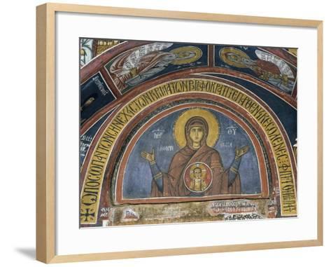 Phorbiotissa Panagia, Our Lady of Christ in Medallion, Fresco--Framed Art Print