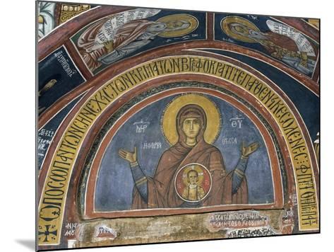 Phorbiotissa Panagia, Our Lady of Christ in Medallion, Fresco--Mounted Giclee Print