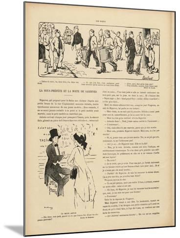 Drawing by Marcel Duchamp in 'Le Rire', 29 October 1910--Mounted Giclee Print