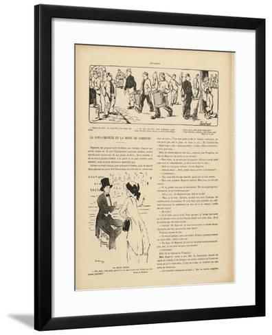 Drawing by Marcel Duchamp in 'Le Rire', 29 October 1910--Framed Art Print