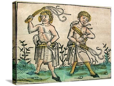 Flagellants, Published in the Nuremberg Chronicle, 1493--Stretched Canvas Print