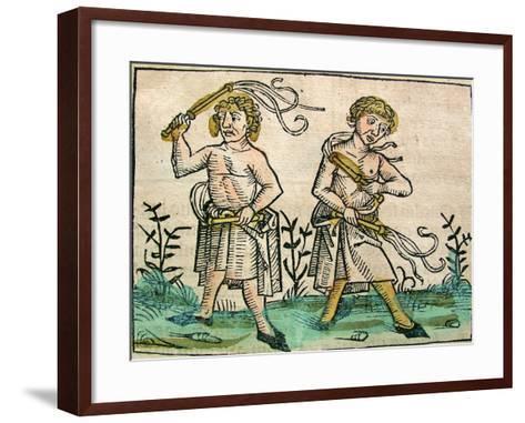 Flagellants, Published in the Nuremberg Chronicle, 1493--Framed Art Print